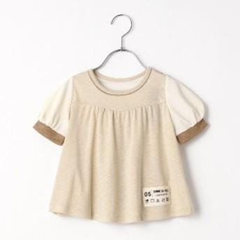 コムサフィユ(COMME CA FILLE)/ラメAラインパフスリーブTシャツ