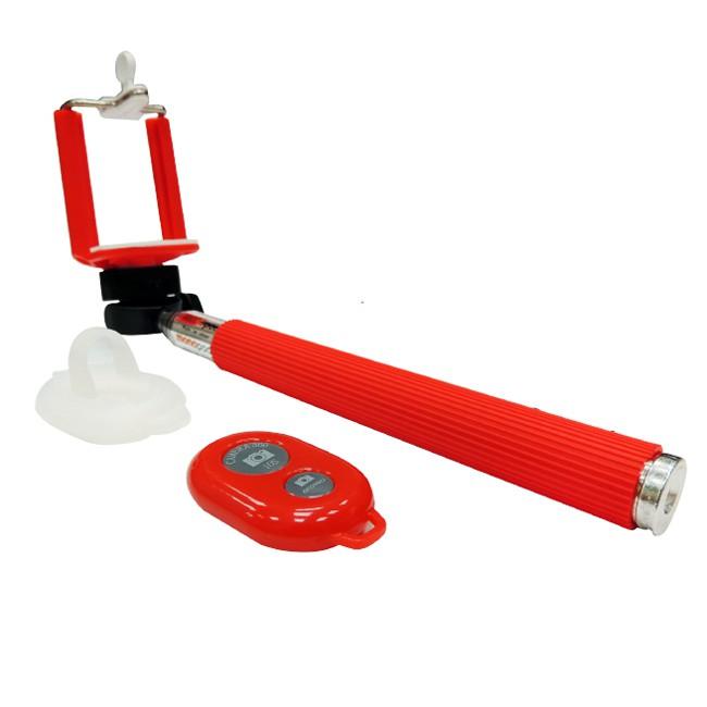 paddy 台菱 SMO-B0001 遙控藍芽自拍棒 紅色 100cm 七段式伸縮 無線藍芽 自拍神器 保固