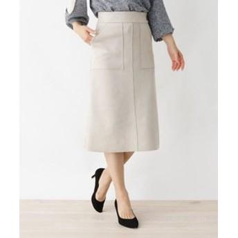 【pink adobe:スカート】フェイクスエードタイトスカート