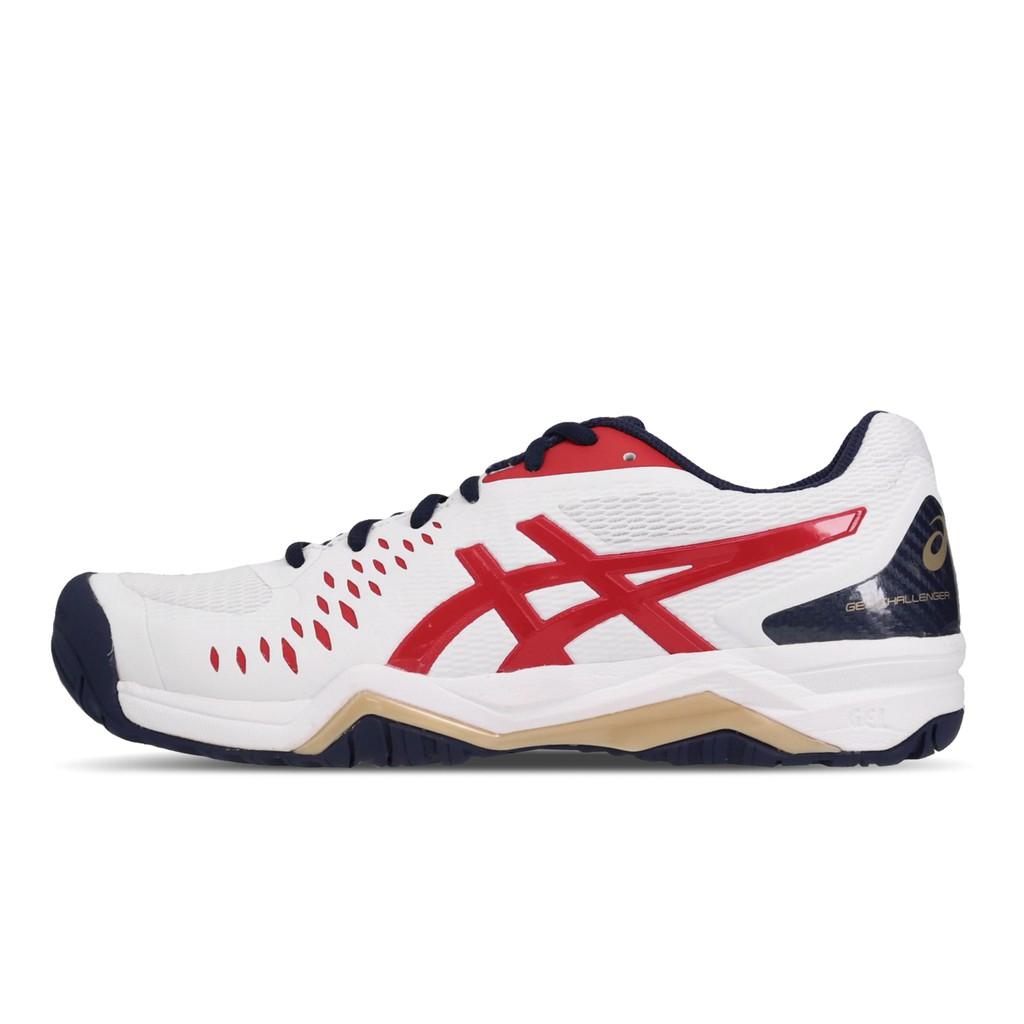 Asics 網球鞋 Gel-Challenger 12 白 紅 男鞋 網球 1041A045-115 亞瑟士 【ACS】