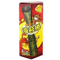【小浣熊】零油脂 海苔捲  6盒/組 (香脆麻辣)