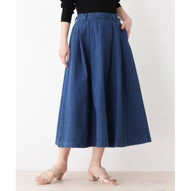 【OPAQUE. CLIP:スカート】Cone タックフレアスカート