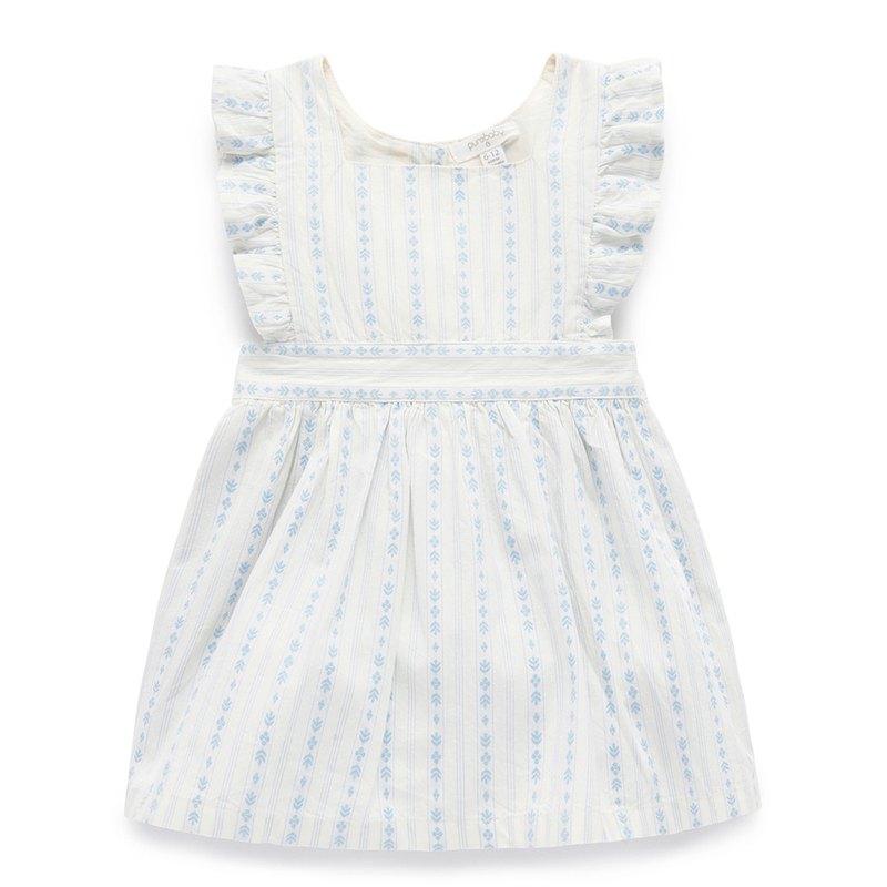 澳洲Purebaby有機棉女童刺繡洋裝/童裝裙12~18月
