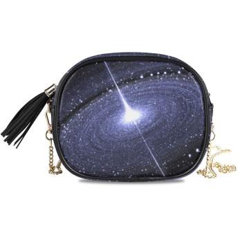 NIESIKKLA レディース チェーンバッグ、おしゃれ ミニ グ ショルダーバッグ シンプル 合わせやすい 多機能 結婚式 パーティーバッグ、超大質量ブラックホールの周りの星空ディスク