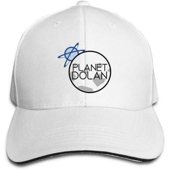 Planet-Dolanヒップホップベースボールキャップゴルフトラッカーベースボールキャップ調節可能なピークサンドイッチハットホワイト