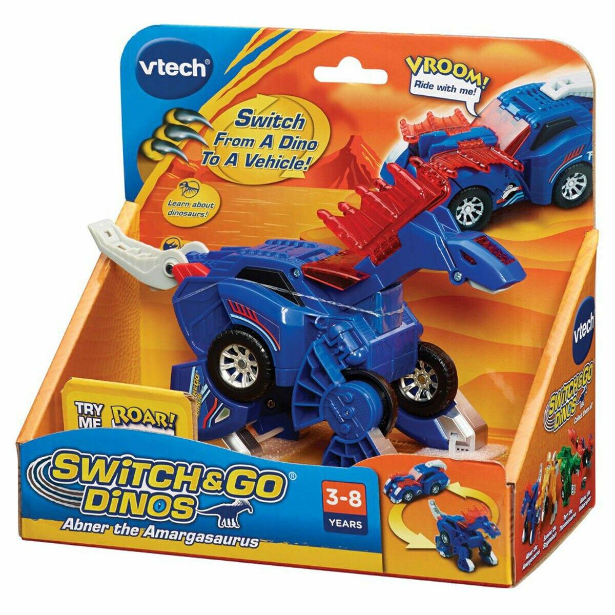 《英國 Vtech》聲光變形恐龍車-阿馬加龍-艾伯納 東喬精品百貨