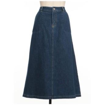 SIMPLE LIFE 【SUSTAINABLE CLOSET】ソフトデニムスカート その他 スカート,オーシャンブルー