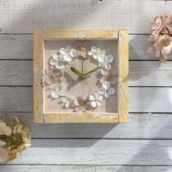 お花の掛け時計