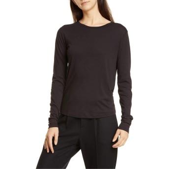 [ヴィンス] レディース Tシャツ Vince Essential Long Sleeve Crewneck Tee [並行輸入品]