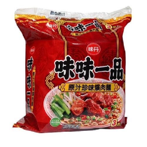 味丹 味味一品原汁珍味爌肉麵(190gx3包/袋)[大買家]