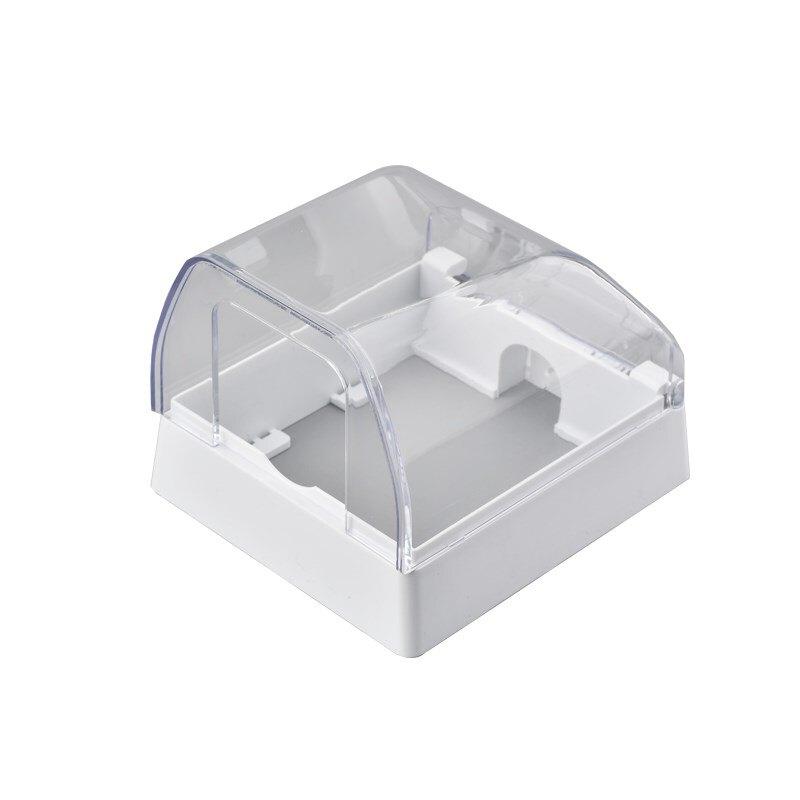 戶外防水明盒 明裝粘貼戶外式浴室盒防水86型浴室插座防濺盒加高開關保護蓋罩『SS736』