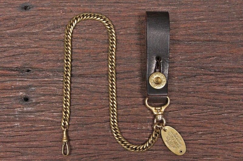 【METALIZE】皮革桂冠釦復古紳士腰鍊