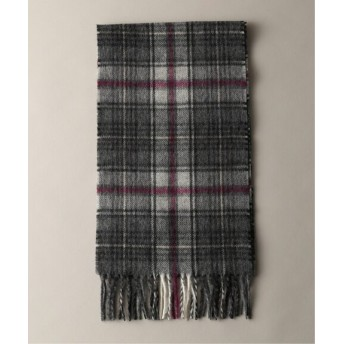 JOURNAL STANDARD 【BRONTE by MOON/ブロンテバイムーン】 LAMBSWOOL CHECK SCARF グレーA フリー