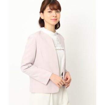 クチュールブローチ カラーレスジャケット レディース ピンク(070) 40(L) 【Couture Brooch】