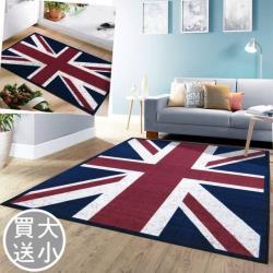 范登伯格  奧斯頓英國國旗進口地毯+踏墊組 - 旗威 140x200+44x65cm