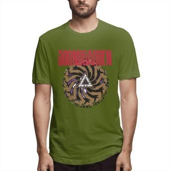 T-shirt Men Soundgarden - Badmotorfinger Fashionable Tees Hip Hop Rock Music Band Short Sleeve Tshirts Pullovers Moss Green L