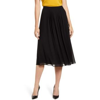 [アンクライン] レディース スカート Anne Klein Pleated A-Line Skirt [並行輸入品]