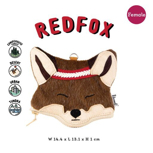 Unmelt-野生動物鑰匙包 (狐狸/女) Wildkeeper(Redfox/girl)