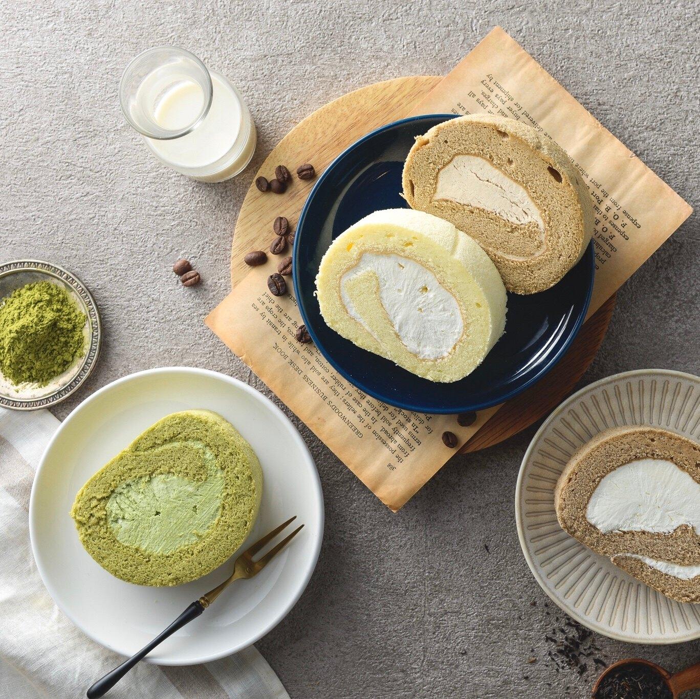 【烘樂夫烘焙】原味雪糕生乳捲  ▎總重量(份數):430~450公克 下午茶必備