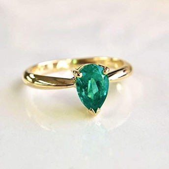 One&Only Jewellery【鑑別書付】0.7ct エメラルド K18 イエローゴールド リング 指輪 5月誕生石