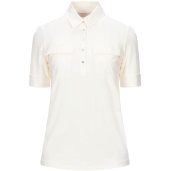 《セール開催中》STEFANEL レディース ポロシャツ アイボリー XS レーヨン 95% / ポリウレタン 5%