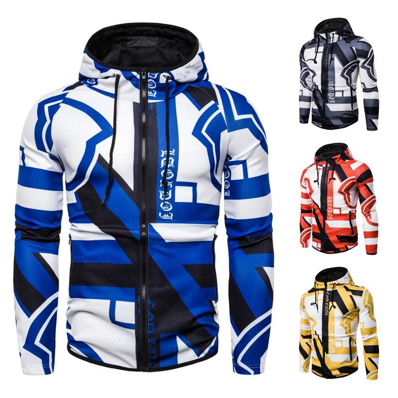 『X-男人館』 N12 運動外套 健身騎行服 男士寬鬆彈性棉質連帽外套 印花潮衛衣 夾克NRG2296