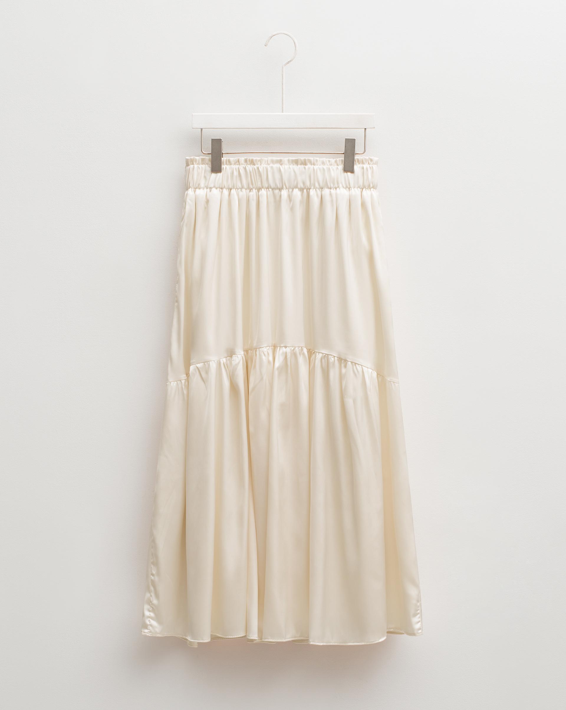 光澤層次傘擺裙-Meierq