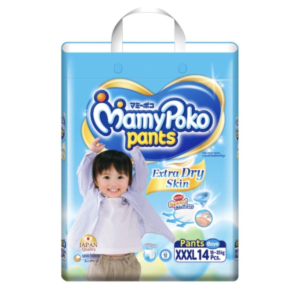 滿意寶寶特級棉柔褲型紙尿褲 XXXL號 男寶寶 28片(14片*2包)