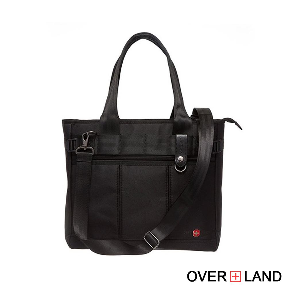 OVERLAND - 美式十字軍 - 簡約直條質感扣環造型2WAYS包 - 0031