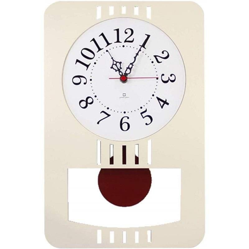 RETRO MODERN 日本純手工木製復古摩登擺動時鐘 深棕色