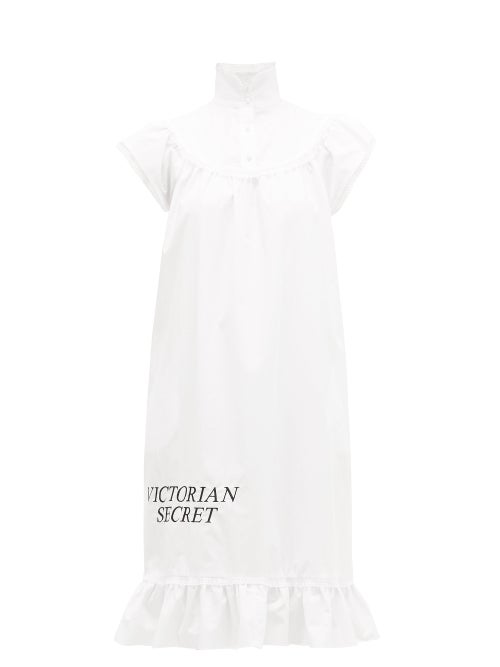 Batsheva - Victorian Secret Cotton-poplin Midi Dress - Womens - White