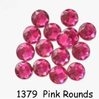 【USAボタン】Pink Rounds【ff1379】