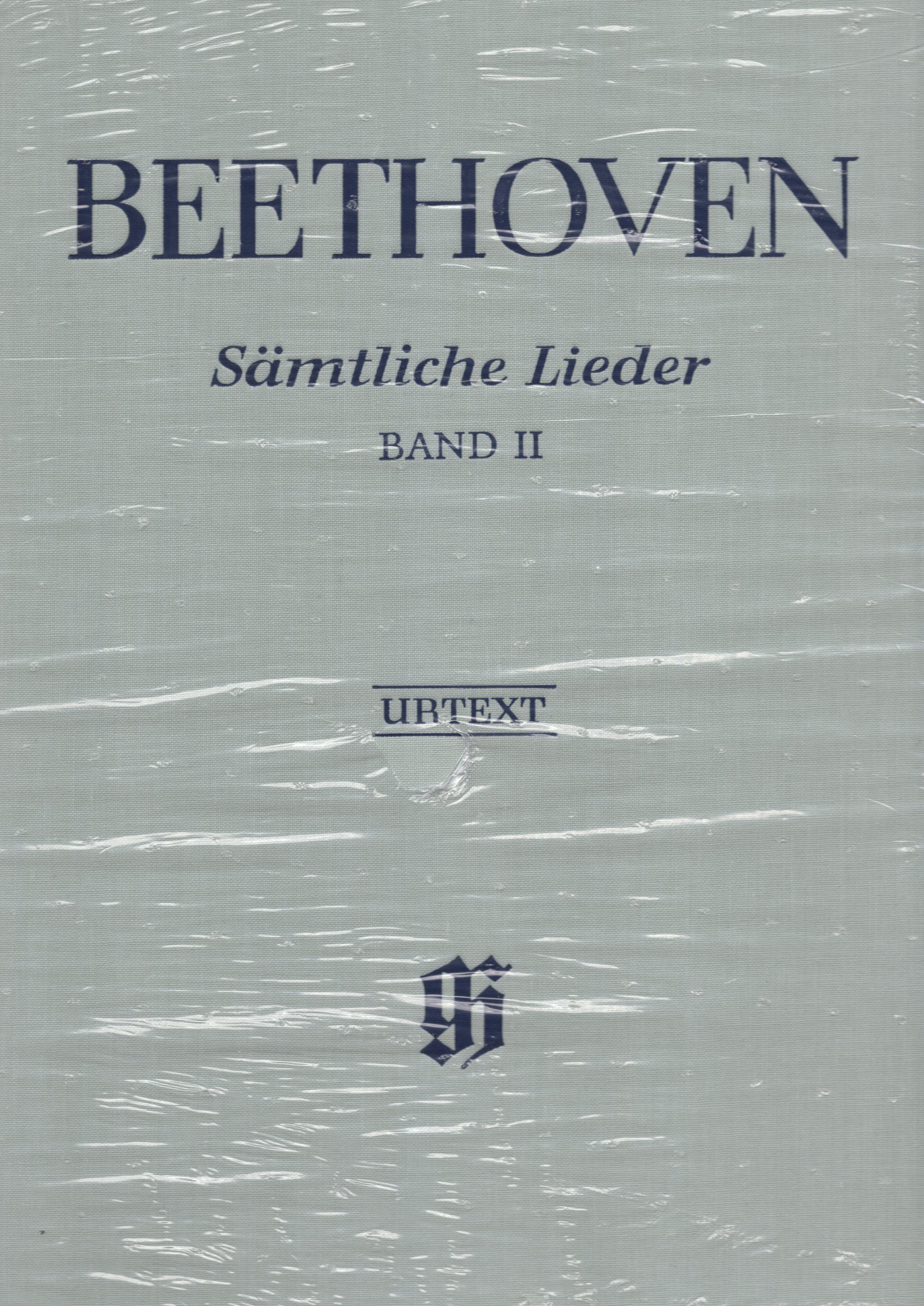 【聲樂樂譜】貝多芬完整藝術歌曲集(原典版) 第二冊 Ludwig van Beethoven: Smtliche Lieder (Urtext) Band 2