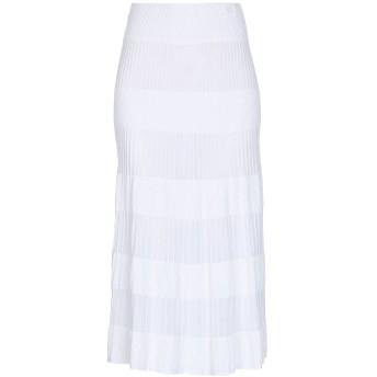 《セール開催中》CRUCIANI レディース 7分丈スカート ホワイト 40 レーヨン 94% / ポリエステル 6%