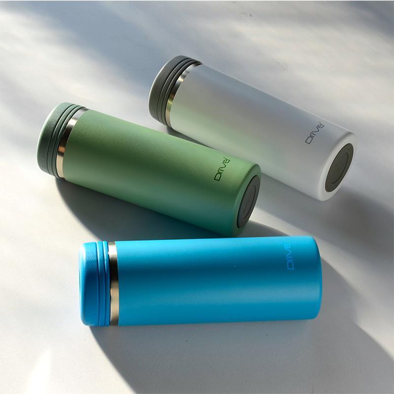 90Do 316保冷保熱真空保溫杯350ml  (莫蘭迪綠)