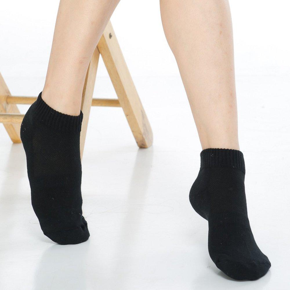 【KEROPPA】可諾帕細針毛巾底氣墊束底女短襪x4雙C91002 E黑色