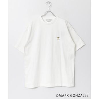 センスオブプレイス Mark Gonzales 別注マークゴンザレスTシャツ(5分袖)A メンズ WHITE XL 【SENSE OF PLACE】