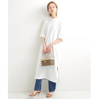 IENA 【TRADITIONAL WEATHERWEAR】LONG Tシャツワンピース◆ ホワイト フリー