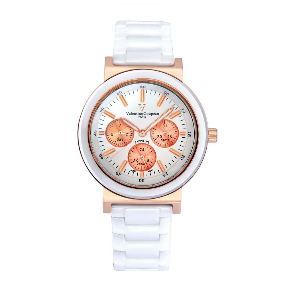 Valentino Coupeau范倫鐵諾古柏香榭三眼陶瓷腕錶-1