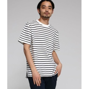 BASE STATION/ベースステーション 【WEB限定】 カノコ編立衿 BIG-Tシャツ アイボリー(104) 03(L)
