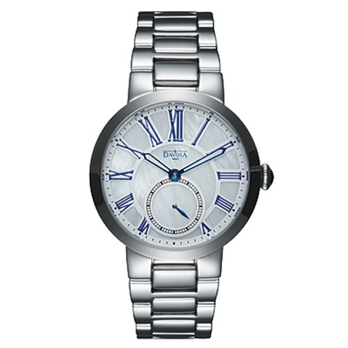 DAVOSA Calypso 小秒針時尚腕錶-白珍珠貝/35mm 168.434.22