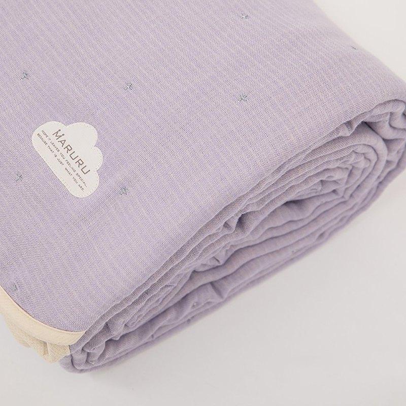 日本製六層紗被 大人被紫星夜 特級刺繡款 XL