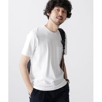 ナノ・ユニバース Anti Soaked ヘビークルーネックTシャツ メンズ ホワイト M 【nano・universe】