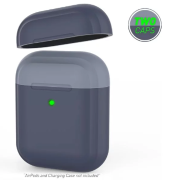 AirPods【厚盾系列】撞色款 矽膠保護套 不易沾染灰塵 簡約造型 圓潤設計 開闔不卡卡