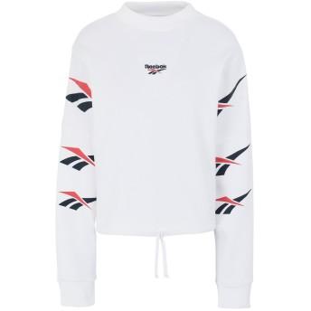 《セール開催中》REEBOK レディース スウェットシャツ ホワイト XS コットン 100% CL D VECTOR REPEAT