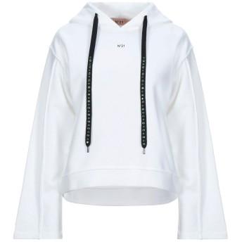 《セール開催中》N°21 レディース スウェットシャツ ホワイト 38 コットン 100%