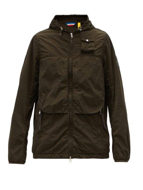 2 Moncler 1952 - Logo-patch Technical Hooded Jacket - Mens - Dark Green