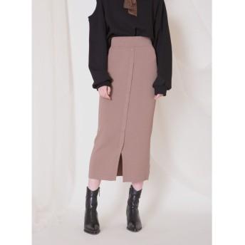 ミエリインヴァリアント Powdery Rib Skirt レディース モカ F(フリーサイズ) 【MIELIINVARIANT】