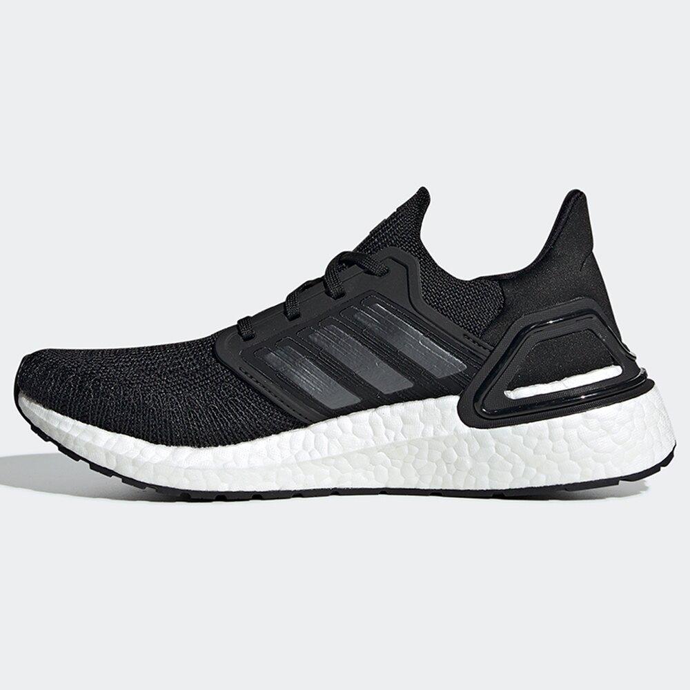 【滿額最高折$430】Adidas ULTRABOOST 20 女鞋 慢跑 襪套 避震 針織 透氣 輕量 黑 白【運動世界】 EG0714