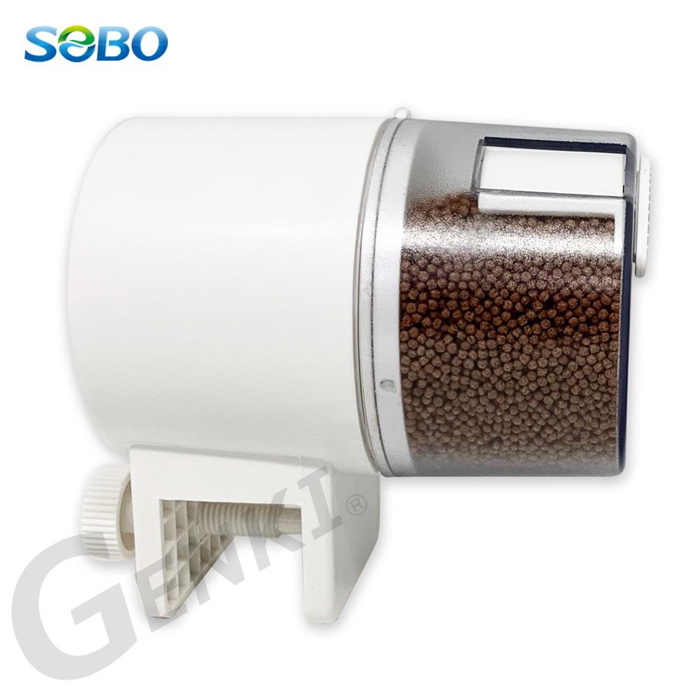 SOBO松寶 DA-08定時自動餵食器 附大小飼料盒(小盒約裝小粒60g.大盒約裝小粒100g)也適用大型魚缸封閉式魚缸